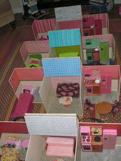 Make your own Barbie Houses and furniture!