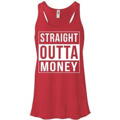 Straight Outta Money Compton Funny Women's Tank Top Girly Cute Fashion... ($14) ❤ liked on Polyvore featuring tops, black, t-shirts, women's clothing, raglan sleeve top, drapey top, black drape top, short tops and relaxed fit tops
