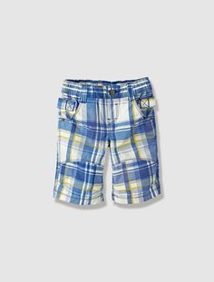 Boy's Checked Bermuda Shorts