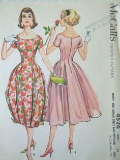 1958 McCall's 4526 Jr. Dress & Petticoat-Sz16/36 FF+tag 12.67+2.5 7bds 9/24/14