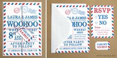 wedding air mail | Airmail Wedding Invitation : Something New Stationery