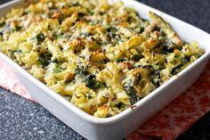 Baked pasta with broccoli rabe and sausage from  Smitten Kitchen