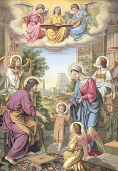 Image of the Holy Family from the 1900 Regensburger Marian Calendar