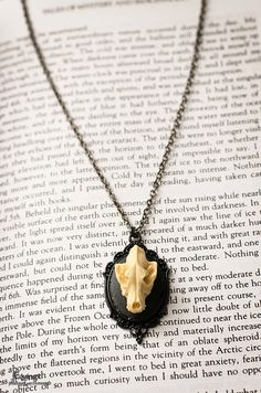 Lycanthropy ivory version  Animal Skull Cameo by VictoriaEquinox