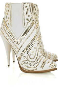 Givenchy Embroidered leather ankle boots