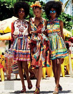 Colorful prints.