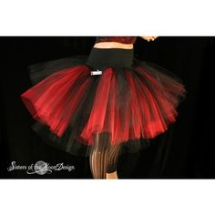 Hell Fire Three Layer Petticoat tutu skirt red and black Adult -- You... (32.485 CLP) ❤ liked on Polyvore featuring skirts, bottoms, puffy skirts, red and black tutu, ruched skirt, bridal tulle skirt and sheer skirt