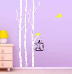 birch trees decals, wall decals, nature wall decals, vinyl wall decal, nature wall decal stickers, brich tree, nursery wall stickers for kid