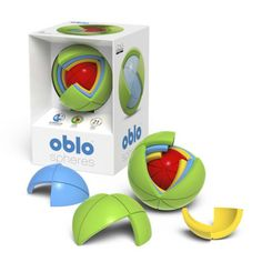 ObloSpheres Red Dot Award winning didactic toy, little nephew to Rubik cube