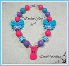 """""""Easter Peep"""" Chunky Beaded Necklace, Photo Prop, Adult / Child"""