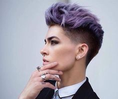 I really like this color and style! I might go more towards a blue than a purple.