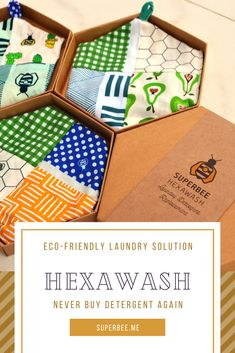 Hexawash uses magnesium to clean your clothes better than any detergent. Throw this pouch in the machine with your dirty clothes and put on normal cycle. Use Hexawash for over 300 washes.