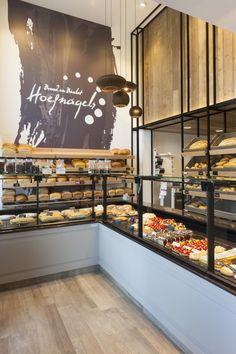 Bakery Shop Interior, Restaurant Interior Design, Commercial Interior Design, Shop Interior Design, Cake Shop Design, Bakery Design, Cafe Design, Cafe Display, Bakery Display