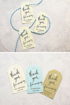 Handmade Wedding Favor Tags by I Do Tags. Get a set of 25 for $11.25+. Perfect for bridal showers or personalizing your wedding. Photography by @firefam5