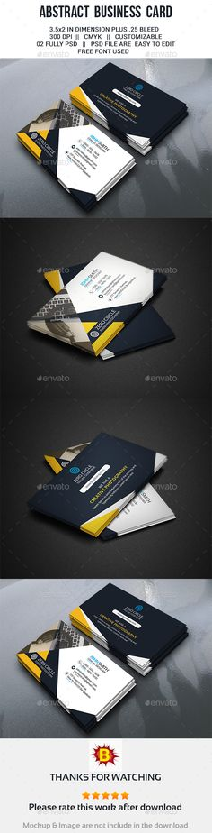Abstract Business Card Template PSD #design Download: http://graphicriver.net/item/abstract-business-card/13755901?ref=ksioks