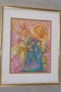 Original Alone in the Mist of Witnesses mixed media abstract by Texas artist signed and framed by UINMIND on Etsy