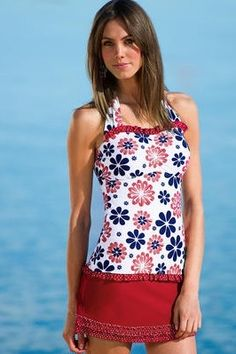 Ultimate Guide: Modest Swimwear 2013 -- make this yourself with a few adaptions and it'd be really cute!