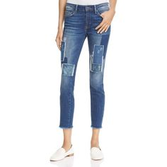 Mavi Adriana Skinny Ankle Jeans in Patched Vintage (1.100.645 IDR) ❤ liked on Polyvore featuring jeans, indigo patched vintage, indigo jeans, indigo denim jeans, vintage skinny jeans, blue skinny jeans and denim skinny jeans