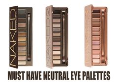 3 of the best neutral eye palettes, click through to see more!