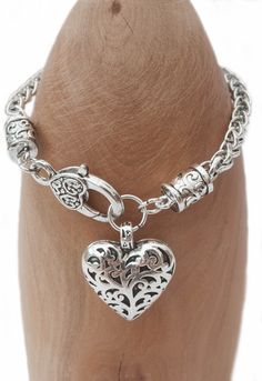 Chain look bracelet with heart £9.95