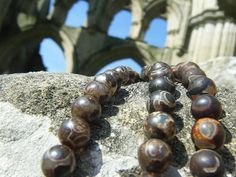 Natural Agate Bead Strands by Blandsgill on Etsy, £5.00