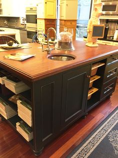 Amazing Kitchen Island With A Craft Art Wood Countertop (Scandia Kitchens    Bellingham, MA