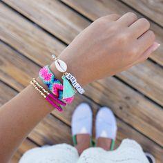 Dibadani Tassel bracelet - Shell Bracelet - Ibiza Bracelets