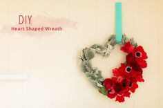 DIY: Heart Shaped Floral Wreath