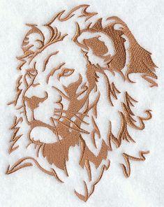 Safari Silhouette Lion Embroidered Flour Sack Hand/Dish Towel. $13.99, via Etsy.