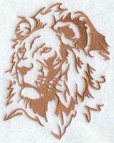 Safari Silhouette Lion Embroidered Flour Sack Hand/Dish Towel. $13.99, via Etsy.