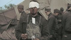 Wounded American Doughboy in World War 1.
