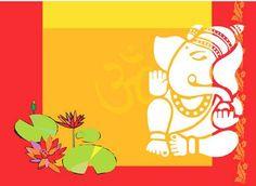 Illustration of Lotus and ganesha, vector art, clipart and stock vectors. Lord Ganesha, Ganpati Invitation Card, Picture Invitations, Ganesha Pictures, Lotus Plant, Hinduism, Vector Art, Cow, Handmade Gifts