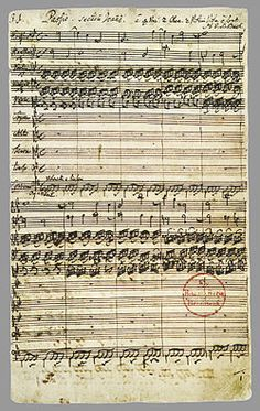 First page of the autograph: Paßio secundum Joannem by Bach
