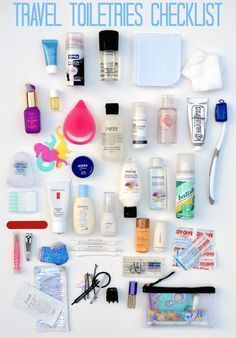 Tips on how to pack a travel toiletries bag - checklist included!