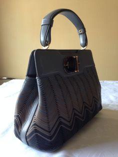 3450-NWT-AUTH-Bulgari-Isabella-Rossellini-Multi-Color-Leather-Handbag-Bag