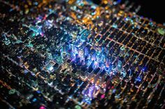Aerial Photos of New York City at Night Captured From 7,500 Feet. Vincent Laforet