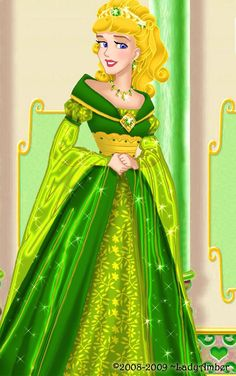 """Aurora deluxe gown by LadyAmber.deviantart.com on @deviantART - Third in a series of redesigned dresses for Disney girls: Aurora from """"Sleeping Beauty""""."""