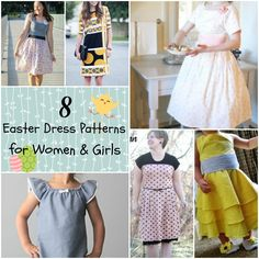 8 Easter Dress Patterns for Women and Girls