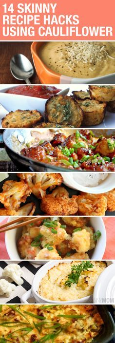 Favorite Recipes: Low-Carb, Gluten Free and Delicious: 14 Skinny Recipe Hacks Using Cauliflower Low Carb Recipes, Diet Recipes, Vegetarian Recipes, Cooking Recipes, Healthy Recipes, Crab Recipes, Healthy Cooking, Healthy Snacks, Cooking Tips
