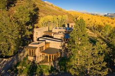 The owners spent 3½ years building this mountain home in Telluride, Colo. using rock found mostly on site. There are more than 50,000 square feet of stone work, including retaining walls and six outdoor living areas. (Credit: Concierge Auction)