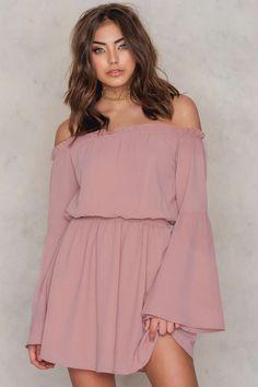 Wide Sleeve Off Shoulder Dress