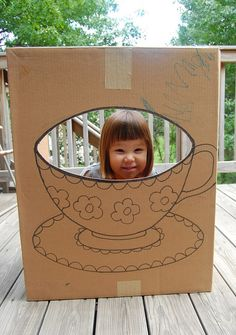 Perfect for Alice/Mad Hatter Party: a really simple cardboard beanbag toss board.
