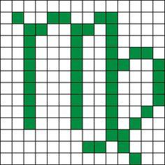 Virgo Perler Bead Pattern / Bead Sprite