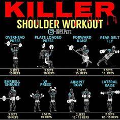Killer back workout. For see more of bodybuilding images visit us on our website ! Killer Chest Workout, Killer Shoulder Workout, Best Chest Workout, Killer Workouts, Chest Workouts, Lower Chest Exercises, Fitness Gym, Tips Fitness, Fitness Nutrition