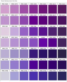 Yum I Love These Colors Purple Color Chart By Red Horse