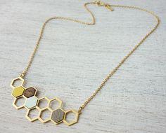 Kim Necklace polygone géométrique bijoux design par ShlomitOfir