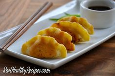 Potstickers have been one of my go-to comfort foods for years. I love everything from the flavor to the sinful indulgence of the carbs. And yet I don't love how I'd feel after a big bowl of traditionally made potstickers…bloated and guilty. Ick! Grains, gluten and soy make up a big part of most potsticker...