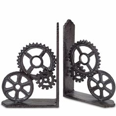 Steampunk Gears Book Ends                                                                                                                                                      More