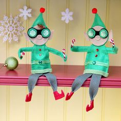 Shelf Elves Craft. When Christmastime arrives, Prep & Landing elves spring into action.