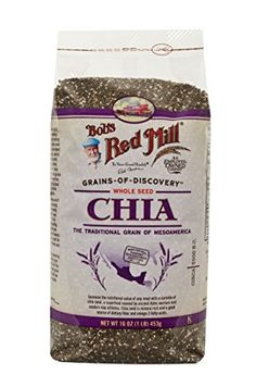 guiltfreebaking.com: Bob's Red Mill Chia Seeds, 16-oz. Bags (Count of 4) Check more at http://www.guiltfreebaking.com/product/bobs-red-mill-chia-seeds-16-oz-bags-count-of-4/